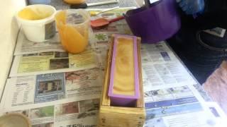 getlinkyoutube.com-Making Hot Orange Danish soap | FuturePrimitive