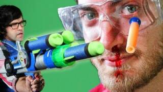 getlinkyoutube.com-Epic Gun Battle - Rhett & Link