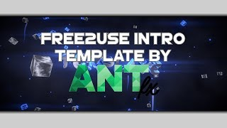 [#113] Free2Use Intro Template by AntFX   (Blender Only)