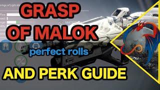 Destiny: Grasp of Malok Perk Review (Best Rolls!)