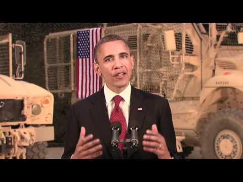 President Barack Obama Afghanistan Speech From Bagram Air Base - Ending the War in Afghanistan