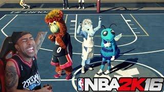 getlinkyoutube.com-NBA 2K16| Entire Team Mascots !! 55 OVR + UGLYJUMPSHOT MyPark Challenge! & Funny Moments