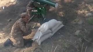 Pakistan Army destroying Indian post with Anti Tank Missile on LOC