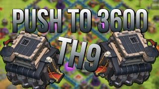 getlinkyoutube.com-Clash Of Clans | TH9 ROAD TO 3600 TROPHY CUPS - Unboxing A Present !