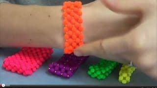 Bracciale a Fascia, elastico, con Mezzi Cristalli - PerlineBijoux.com