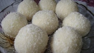 getlinkyoutube.com-How to make yummy nariyal/ coconut laddu at home