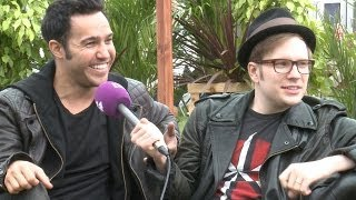 getlinkyoutube.com-Fall Out Boy Interview: Isle of Wight Festival 2014