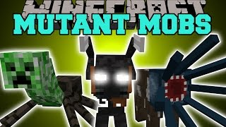 getlinkyoutube.com-Minecraft: MUTANT MOBS (INSANE NEW BOSS & FUNNY MOBS WITH SPECIAL ABILITIES!) Mod Showcase