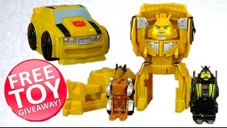 getlinkyoutube.com-Toy Give Away! - Bumblebee Bird Blast Angry Birds Transformers - Grimlock and High Octane BumbleBee