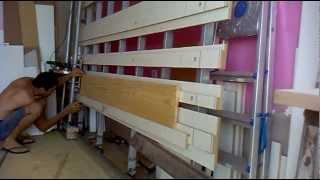 getlinkyoutube.com-painel saw ,serra esquadrejadeira vertical testando com tabua de pinus