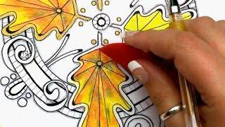 getlinkyoutube.com-New Gel Pen Blending Tool