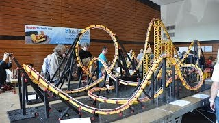 getlinkyoutube.com-fischertechnik Roller Coaster Model firestorm 2 - Offride @ ft Convention 2011
