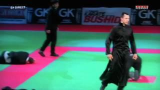 """getlinkyoutube.com-CASCADE DEMO TEAM """"MATRIX au 26ème Festival des Arts martiaux de BERCY 2011"""