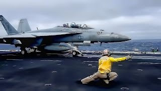 getlinkyoutube.com-American Aircraft Carrier In Action • USS John C. Stennis