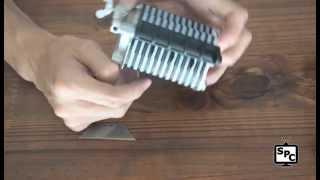 getlinkyoutube.com-Corta tiras y flecos de cuero, 1076-T