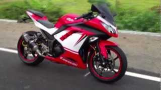 getlinkyoutube.com-New Ninja 300 with custom stickers Ducati Panigale
