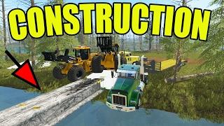 FARMING SIMULATOR 2017 | BRIDGE CONSTRUCTION WITH I-BEAMS | MULTIPLAYER