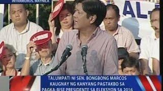 getlinkyoutube.com-NTVL: Talumpati ni Sen. Bongbong Marcos kaugnay ng kanyang pagtakbo sa pagka-bise presidente