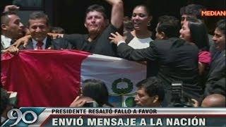 getlinkyoutube.com-Ollanta Humala celebra fallo con baño de popularidad