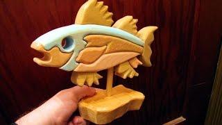 getlinkyoutube.com-Scroll Saw segmentation Fish woodworking project (no cost)