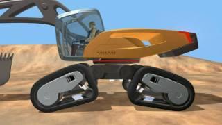 getlinkyoutube.com-Volvo SFINX - Volvo's futuristic Excavator concept machine
