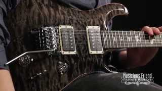 getlinkyoutube.com-PRS Custom 24 Quilted Maple 10-Top Electric Guitar with Floyd Rose Grey Black Ebony Fretboard