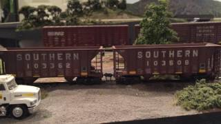 getlinkyoutube.com-NS Local Switches Industry with Bad Track - HO Scale