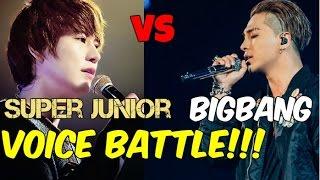 Super Junior vs BIGBANG voice battle!!! Batalla de Canto!!! 2016