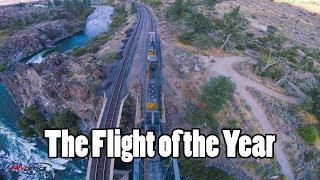 Drone ile mükemmel bir tren çekimi