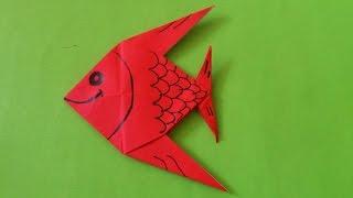 getlinkyoutube.com-Cara Membuat Origami Ikan Hias | Origami Binatang
