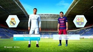 getlinkyoutube.com-FIFA 16 Gameplay PS3/X360 - REAL MADRID vs BARCELONA - C. Ronaldo, Messi e Neymar (OLD GEN)