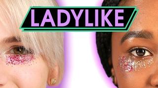 getlinkyoutube.com-Women Try Glitter Concealer • Ladylike