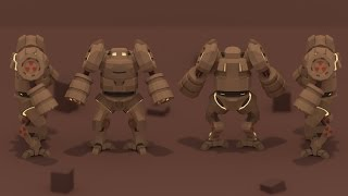 getlinkyoutube.com-| PigArt | BLENDER Low Poly: Mech +Thoughts while making