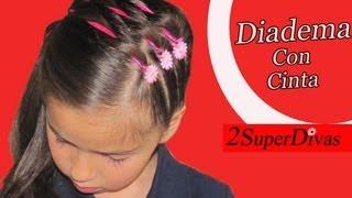 getlinkyoutube.com-Como hacer Peinado Coleta de lado decorado con Cinta, peinados niña, bodas, prom, quinceañera