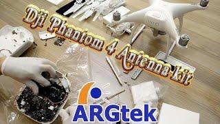 getlinkyoutube.com-DJI Phantom 4 (P3 PRO/Advanced) WiFi Range Extender (4X) 7.5KM installation by ARGtek GM5