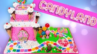 Candyland Gingerbread Castle Cake