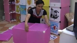 Fiber Plastic Cubic Cabinet by Alhamra width=