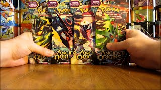 getlinkyoutube.com-4 Ancient Origins Pokemon Booster Pack Opening (Great Pull!)