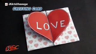 getlinkyoutube.com-DIY Love Heart Greeting Card | How to make Valentine's Day Greeting Card | JK Arts 817