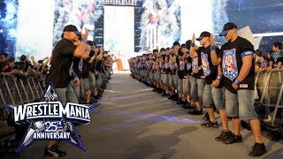 An army of John Cenas make their WrestleMania entrance: WrestleMania 25 width=