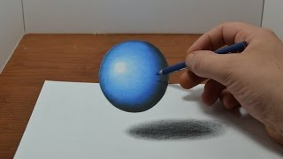 getlinkyoutube.com-Drawing a Floating, Levitating Ball - Anamorphic Trick Art