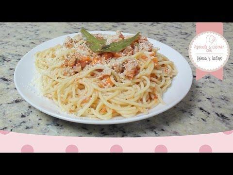 Aprende a cocinar - Spaghetti a la Bolognesa