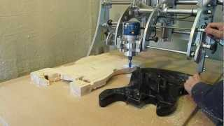 getlinkyoutube.com-Clone 4D - Router Duplicator / Copy Carver - Guitar Body Duplicating.