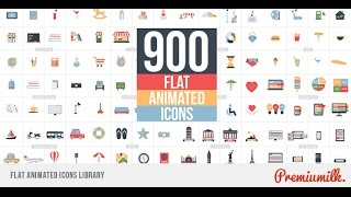 getlinkyoutube.com-Flat Animated Icons Library (After Effects Template)