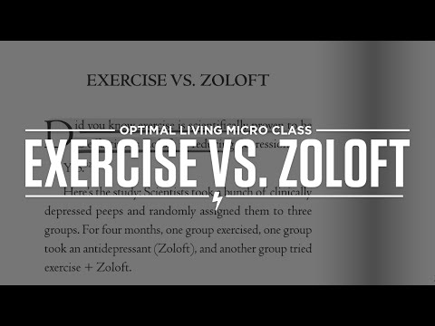 Exercise vs. Zoloft