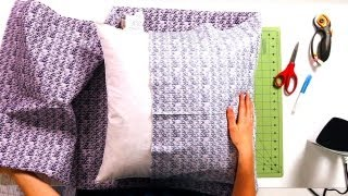How to Fold & Attach Sides of Pillow | No-Sew Crafts