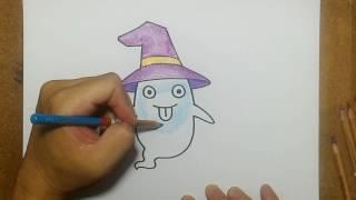 getlinkyoutube.com-สอนระบายสี การ์ตูน ผี น่ารัก | วาดการ์ตูน กันเถอะ