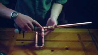 getlinkyoutube.com-Homemade copper marshmallow gun with a barrel sealing piston valve