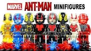 getlinkyoutube.com-Marvel's Ant-Man LEGO KnockOff Minifigures Set 1 w/ Hank Pym & Yellow Jacket Review