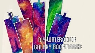 getlinkyoutube.com-DIY Watercolor Galaxy Bookmarks